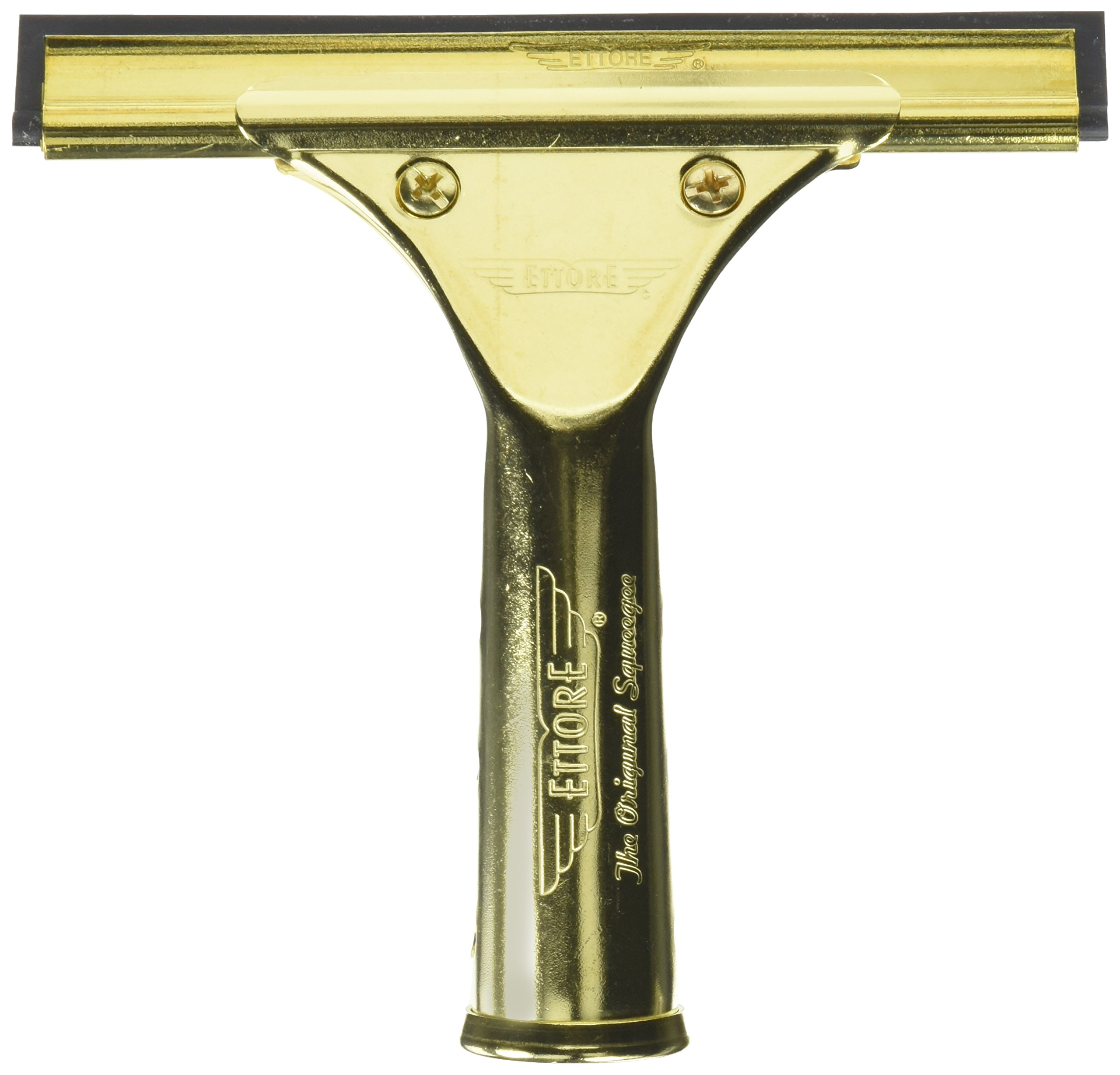 Ettore 10012 Solid Brass Squeegee, 6-Inch
