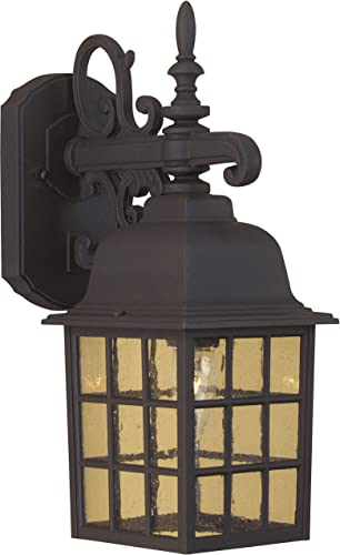 Craftmade Z270-TB Grid Cage Outdoor Wall Sconce, 1-Light 100 Watt 6 W x 15 H , Matte Black