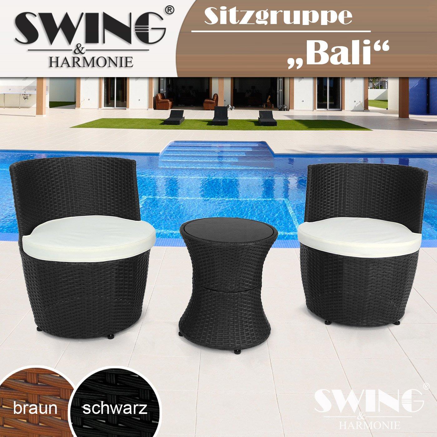 Luxus Design Rattan Sessel Garten Lounge Sitzgruppe Garnitur Set ...