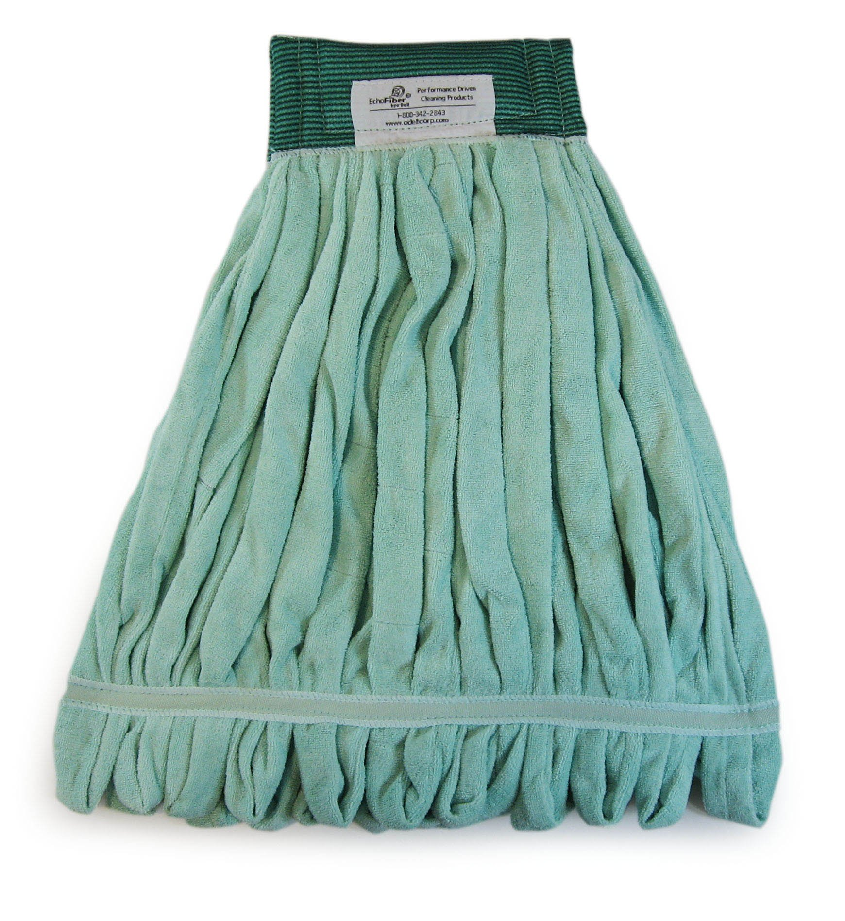 O'Dell EchoFiber Microfiber Loop Mop - Medium Green MWTM-G