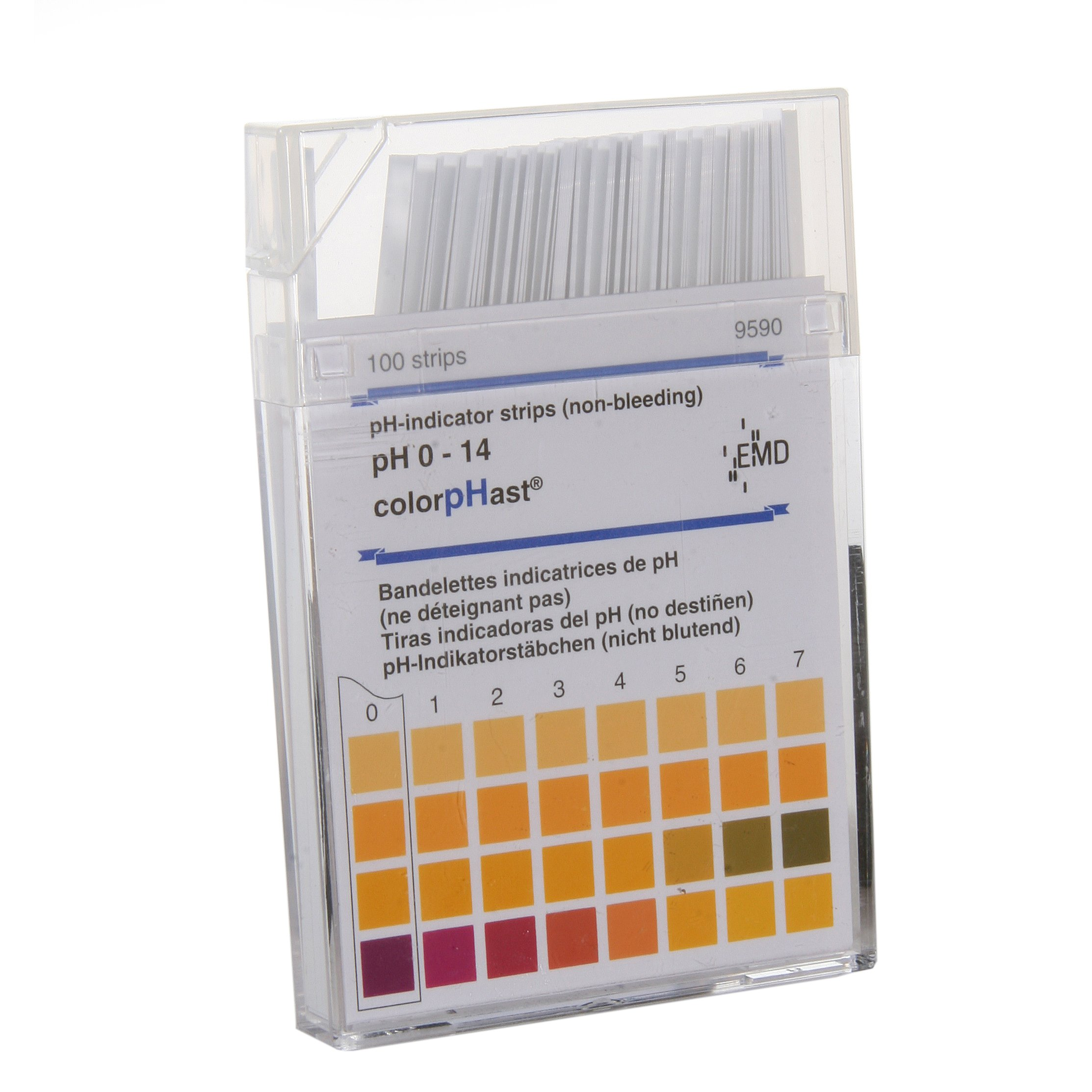 ColorpHast 9590-3 Test Strips, 0-14 pH (Box of 100) by Millipore