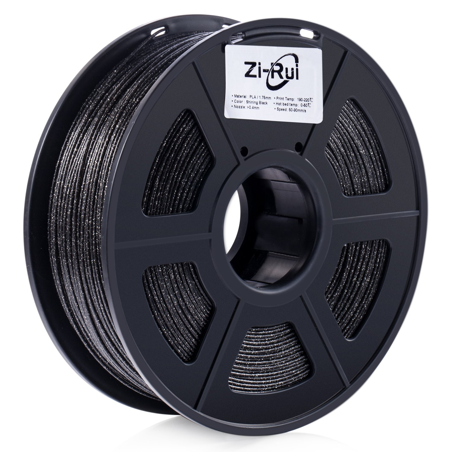 Zi-Rui Marble Color 3D Printer PLA Filament,Sparkly Black