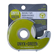 Onyx and Green Invisible Tape with Full Dispenser, 1.9 cm x 33-Meter (4602)
