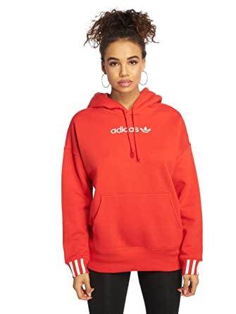 official store run shoes get new adidas Originals Damen Hoodies Coeeze rot 38: Amazon.de ...