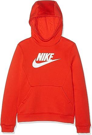Felpa Bambino Nike Po Hoodie Club Fleece Hbr