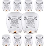 Sky Lanterns & Chinese Lanterns (10 Pack) ECO Friendly, 100% Biodegradable - Beautiful Lantern for White for Weddings, Birthdays, Memorials and Much More by Smeiker