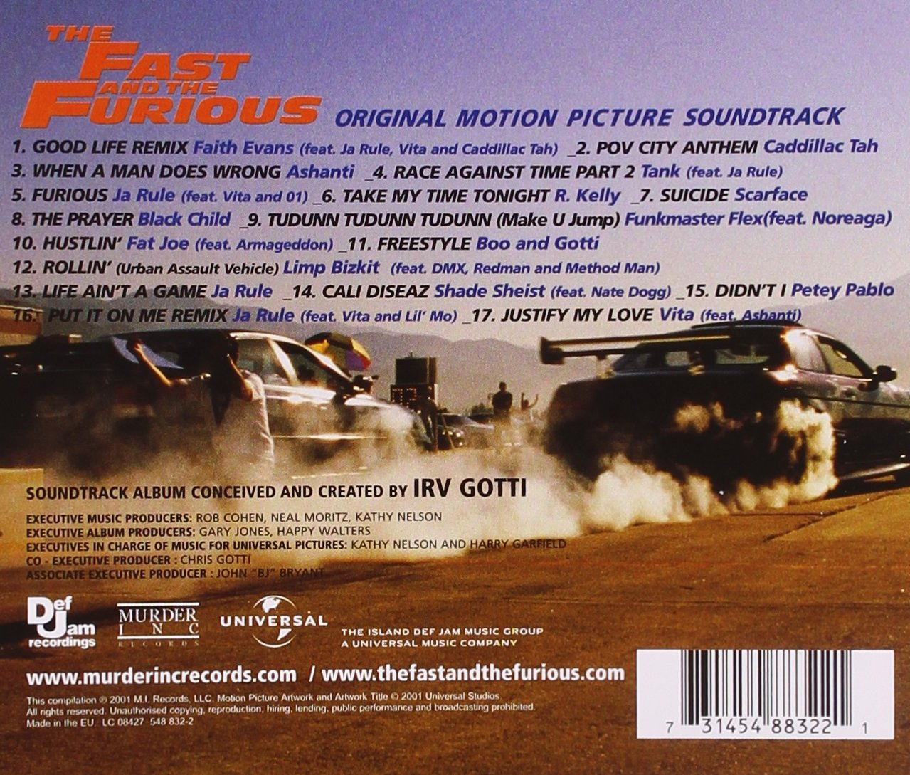 The Fast And The Furious Soundtrack Album Cover