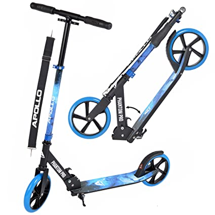 Apollo XXL Wheel Kick Scooter 200 mm - Phantom Pro es un City Scooter, City Roller Plegable y Ajustable en Altura, para Adultos y niños