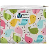 Planet Wise Reusable Zipper Sandwich and Snack Bags, Sandwich, Chick-a-Dees