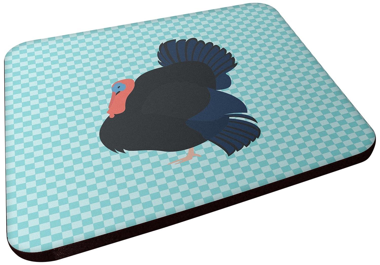 Carolines Treasures BB8159FC Norfolk Black Turkey Blue Check Decorative coasters 3.5 Multicolor
