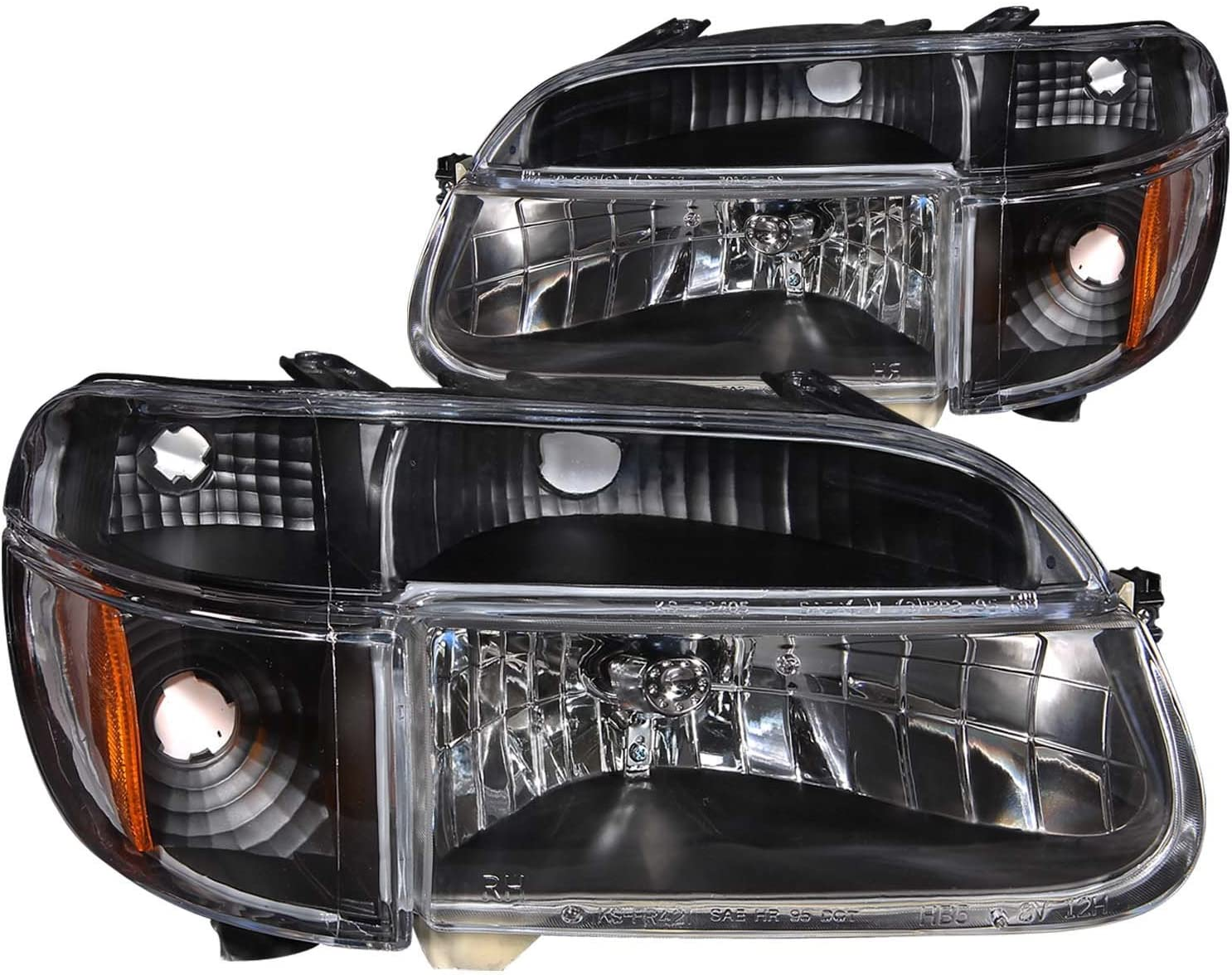 Anzo USA 111040 Ford Explorer Crystal with Amber Corner Chrome Headlight Assembly Sold in Pairs