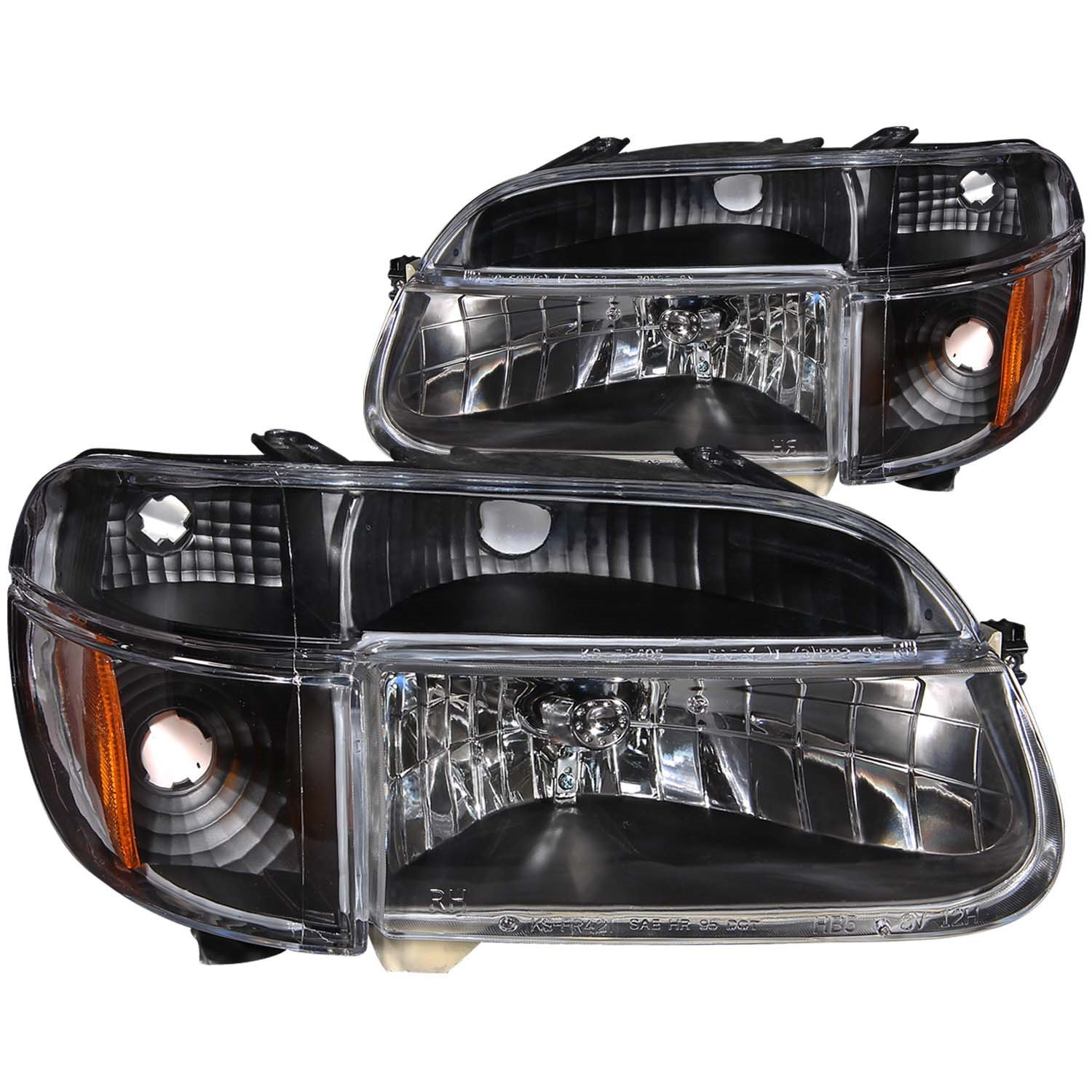amazoncom anzo usa 111039 ford explorer crystal with amber corner black headlight assembly sold in pairs automotive
