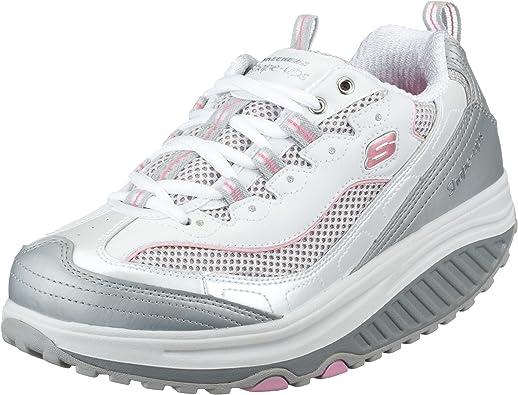 Skechers Zapatillas de Deporte de Cuero para Mujer, Color