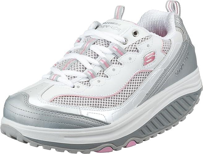 Skechers - Zapatillas de Deporte de Cuero para Mujer, Color Blanco, Talla 35: Amazon.es: Zapatos y complementos