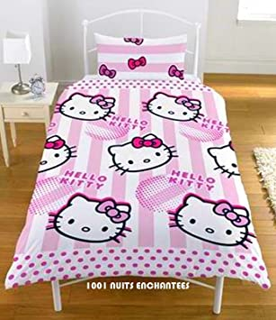 Parure housse couette HELLO KITTY dp BPBY