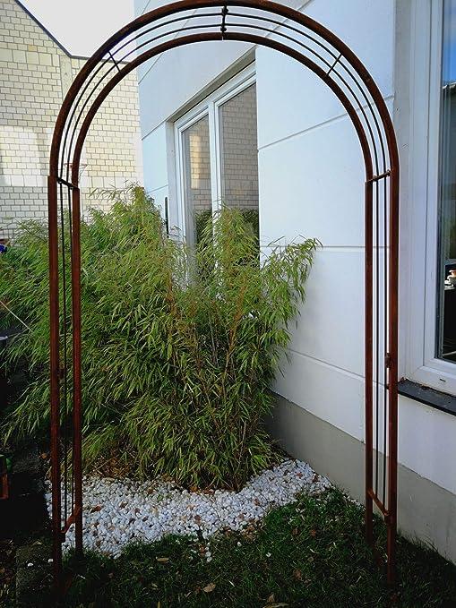 Zen Man 031926-1 – Arco para jardín de Metal Oxidado, para decoración de jardín, Enrejado de Rosas, Hecho a Mano, 120 x 30 x 220 cm: Amazon.es: Jardín