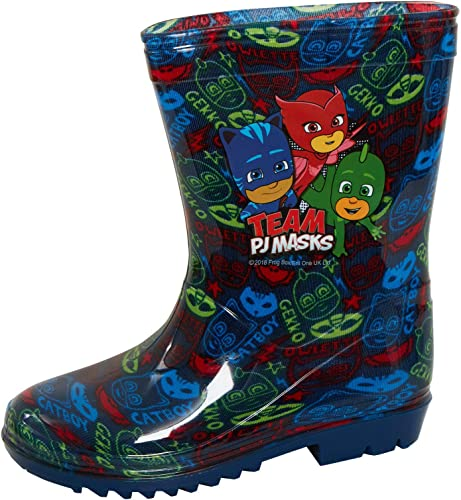 new products outlet store pretty nice PJ Masks Boys Wellington Boots Blue Wellies Gekko Cat Boy Rain ...