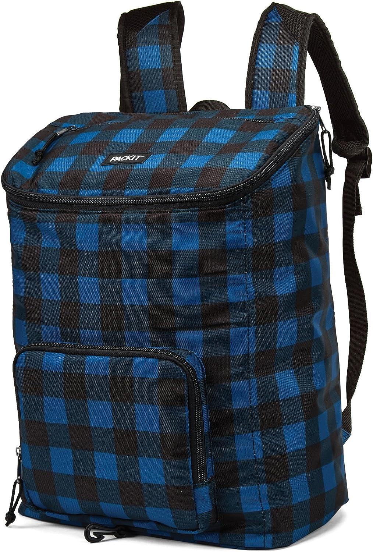 PackIt Freezable Everyday Backpack Cooler, Navy Buffalo