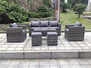 Brilliant Uk Leisure World New Rattan Wicker Conservatory Outdoor Garden Furniture Set Corner Sofa Table Grey Interior Design Ideas Gentotryabchikinfo
