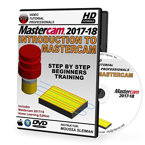 amazon com mastercam 2017 2018 introduction to mastercam video rh amazon com