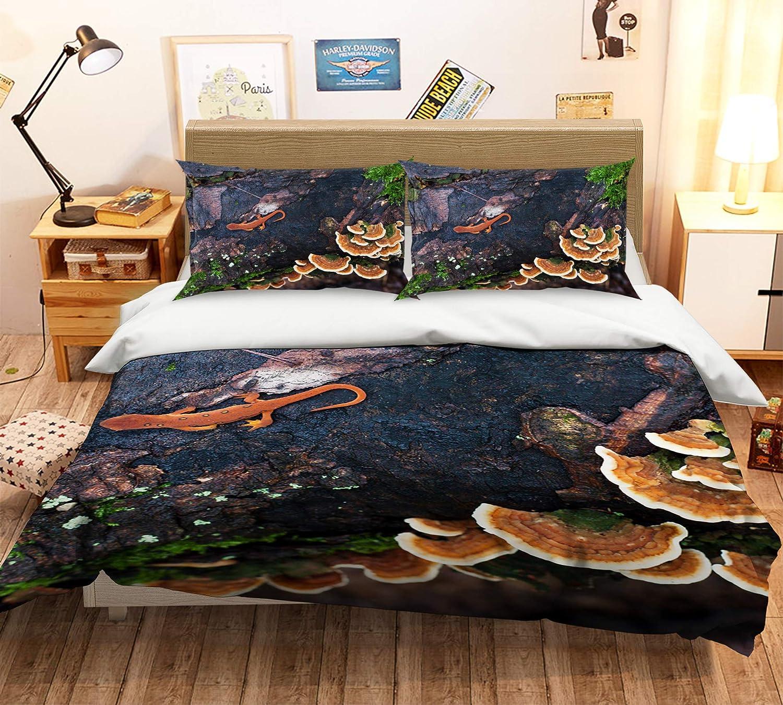 AJ WALLPAPER 3D Cliff Edge Ganoderma 405 - Juego de funda de edredón para cama individual Queen King | foto 3D UK Zoe, Matrimonio doble