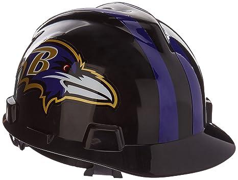 9c674d0f MSA 818386 NFL V-Gard Protective Cap, Baltimore Ravens