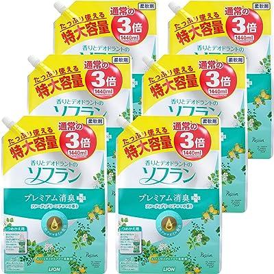 ソフラン プレミアム消臭プラス フルーティグリーンアロマの香り 特大詰替 1440ml×6個