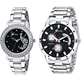Rich Club Analogue Black Dial Men's & Women's Couple Watch (D5Mor+27-Blk)