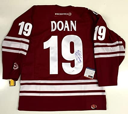 19ec23b34 Autographed Shane Doan Jersey - Phoenix Koho Size Medium Coa Rare - PSA DNA  Certified