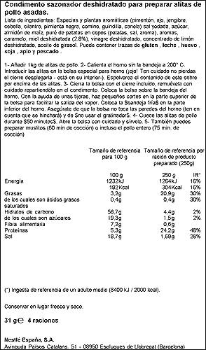 Maggi - Directo al horno - Alitas de pollo con miel - 31 g: Amazon.es: Alimentación y bebidas