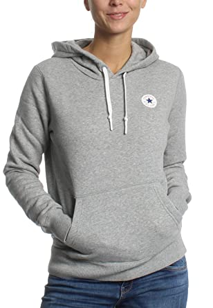 Converse Women s Hoodie - Grey - XL  Amazon.co.uk  Clothing 29565a2467