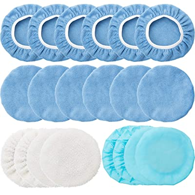 20 Pieces Car Polisher Pad Bonnet Microfiber Max Baxer Bonnet Polishing Bonnet Buffing Pad Cover (5-6 Inches): Automotive