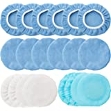 20 Pieces 9-10 Inches Car Polisher Pad Bonnet Microfiber Max Baxer Bonnet Polishing Bonnet Buffing Pad Cover
