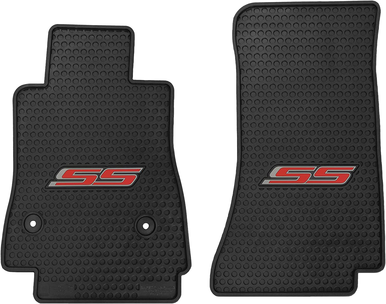 Lloyd Mats Signature Rubber Custom Floor Mats for Chevy Camaro 2016 Black, 2PC - Camaro SS ON