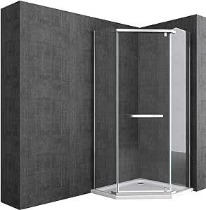 doporro Cabina de ducha de cuarto de círculo Rav08K 90x90x195cm, mampara de vidrio de seguridad transparente | Con revestimiento - Nano: Amazon.es: Bricolaje y herramientas