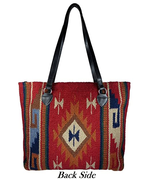 208eb6b10b88 Amazon.com  Southwest Boutique Wool Tote Purse Bag Native American Western  Style Handwoven (Catalina)  Shoes