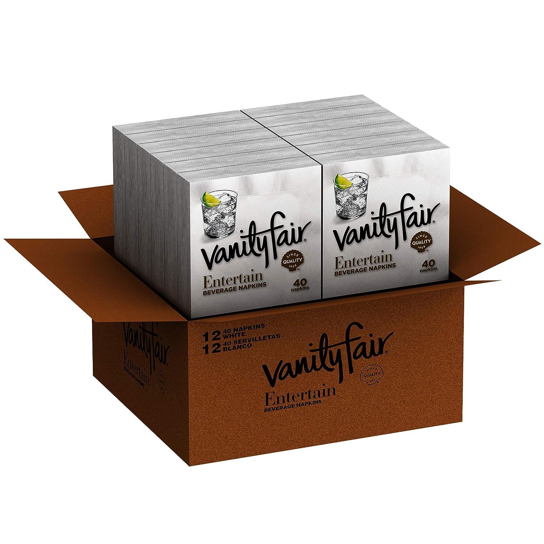 Vanity Fair Impressions Beverage Napkins、480 Countペーパーナプキン(12パック40のナプキン) (パッケージデザインMay Vary) B00J8HANLC  1