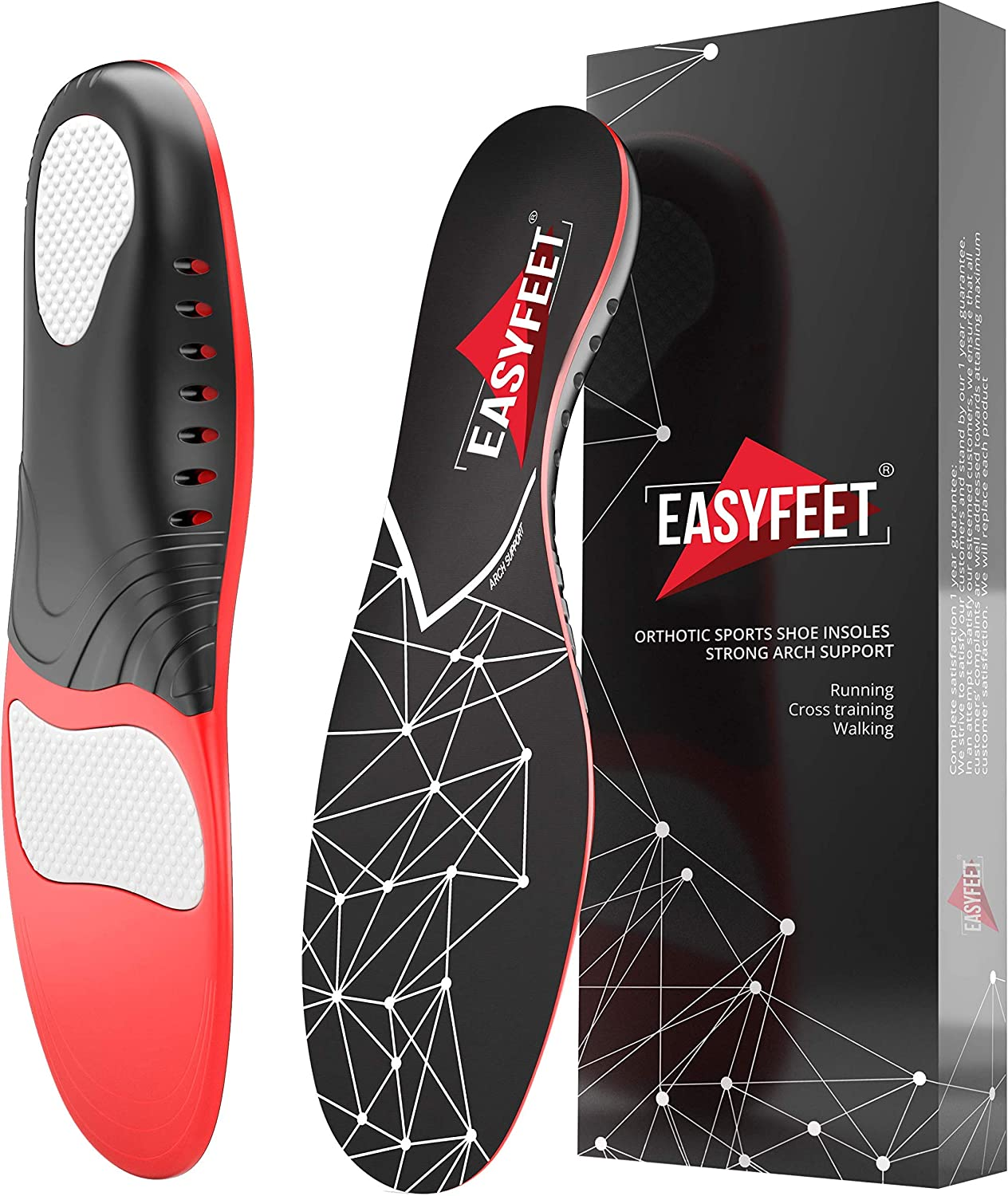EASYFEET Plantar Fasciitis Arch Support Insoles $13.02 Coupon