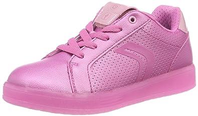 ec8fd2850 Geox Girl's J Kommodor Girl A Low-Top Sneakers: Amazon.co.uk: Shoes ...