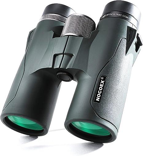 NOCOEX 10x42 HD Jumelles Compact Prisme de Toit, étanche, Anti Brouillard Et Anti Chocs, Convient pour Observation d'Oiseaux, Paysages Et Chasse, Kaki