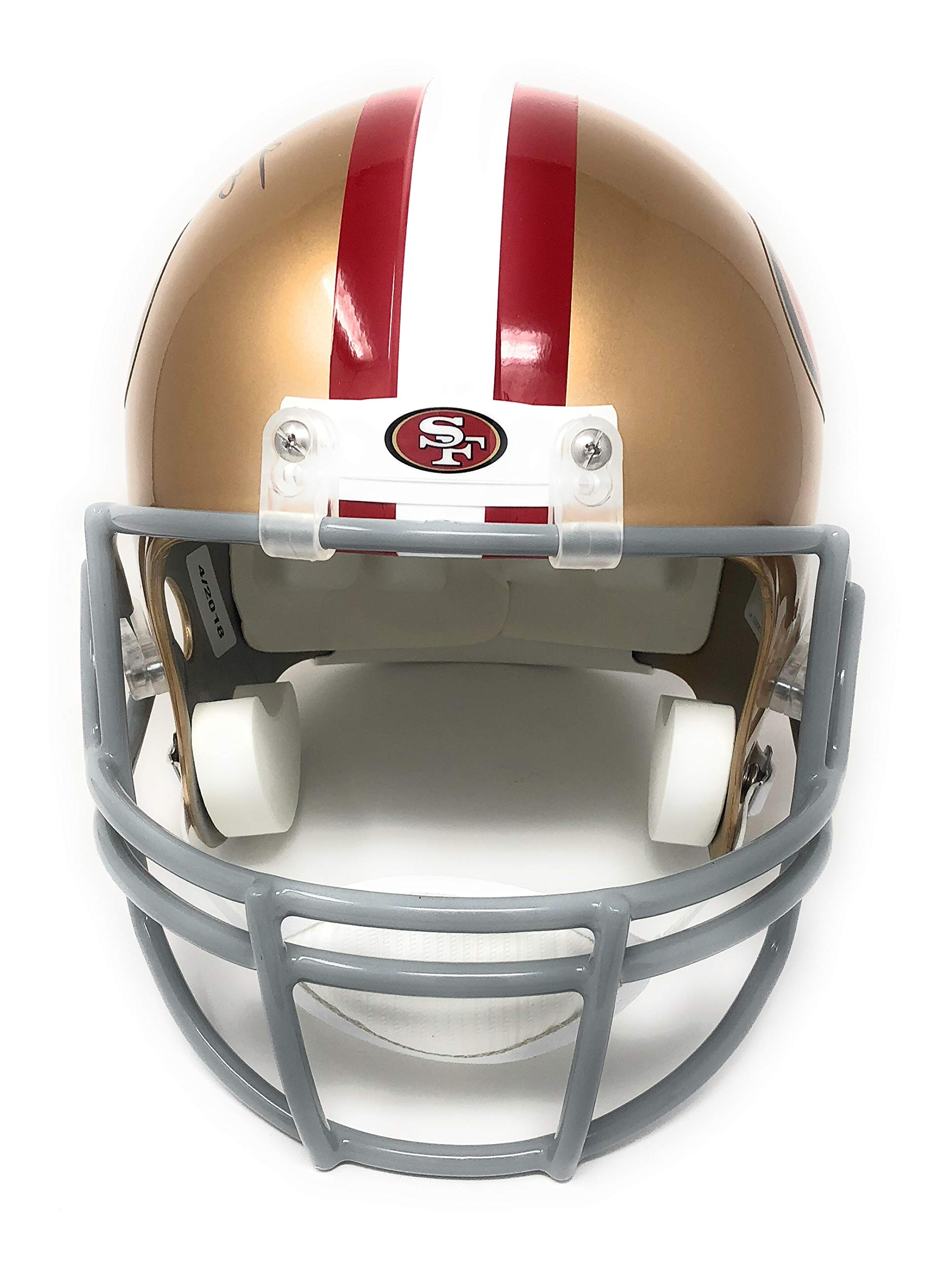 Jerry Rice San Francisco 49ers Signed Autograph Full Size Helmet GTSM Rice Player Hologram Certified