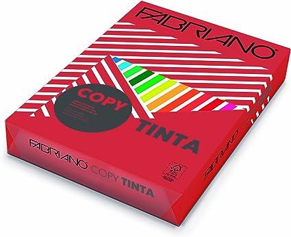 Fabriano F60521297 - Pack 500 hojas de papel, A4, 80 g, color rojo: Amazon.es: Oficina y papelería