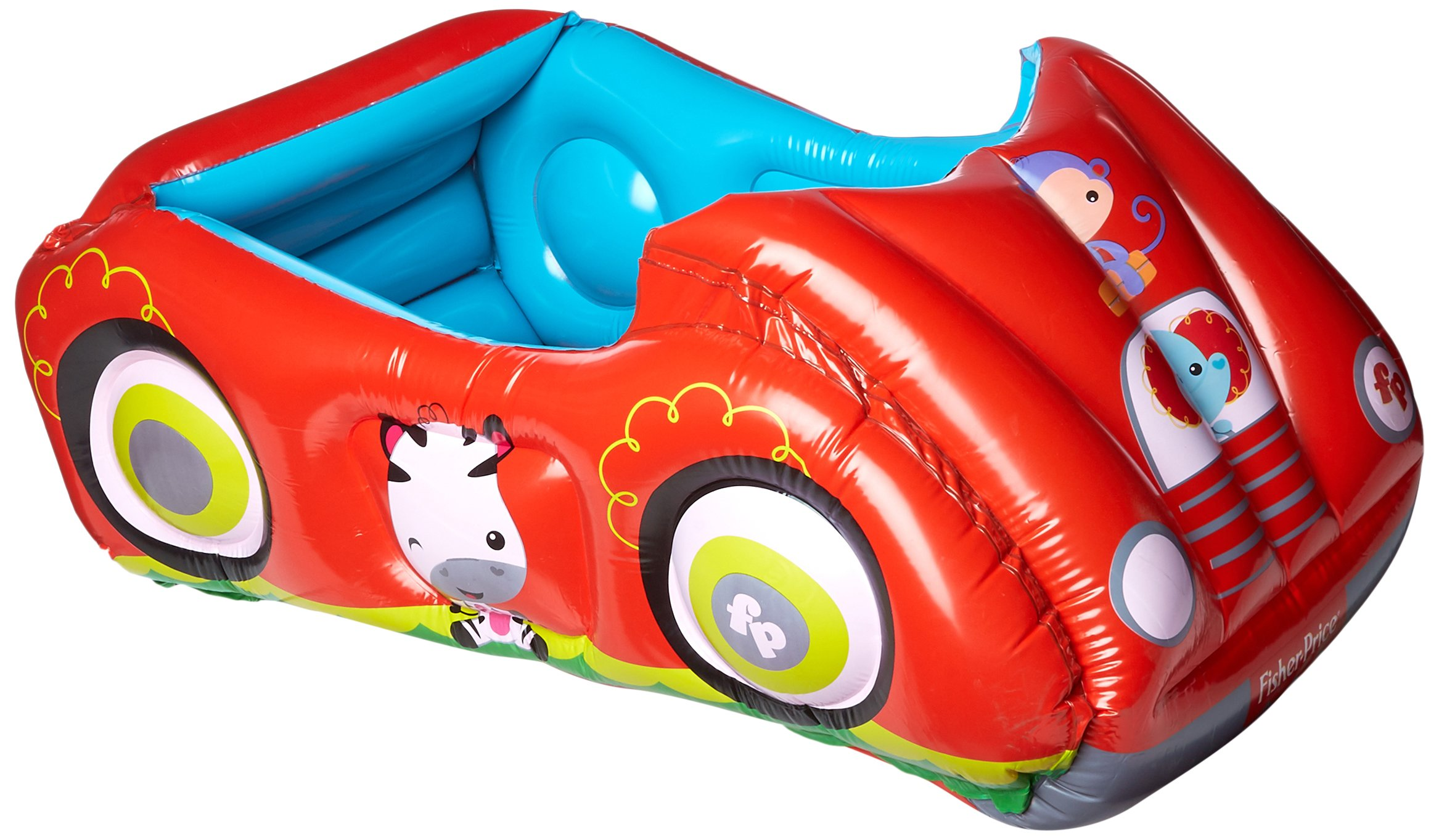 Bestway Fisher-Price Race Car Ball Pit Inflatable, Red, 47 x 31 x 20
