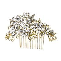 Ever Faith Wedding Hair Comb Flower Cluster Clear Austrian Crystal Silver-Tone A07500-1