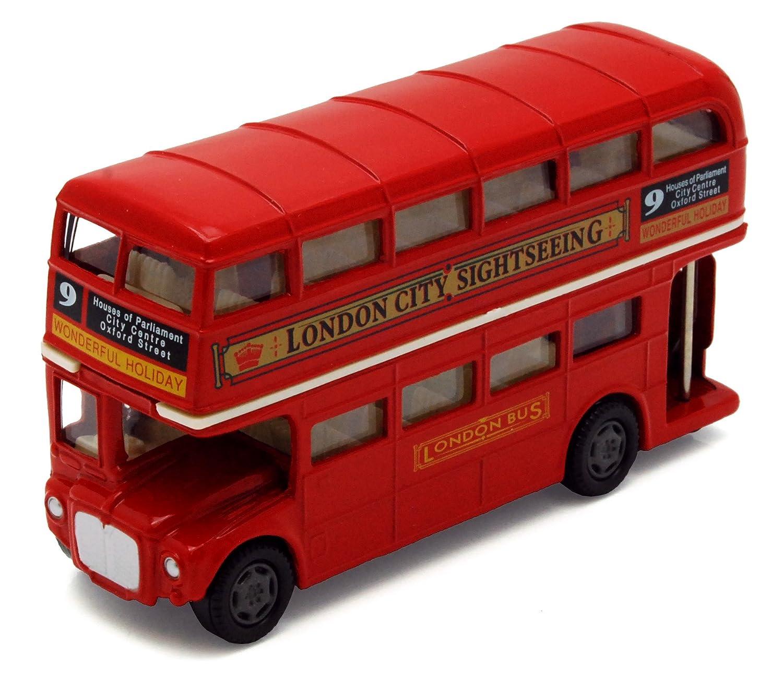 toylandbay London Bus Routemaster City Tourist Closed Top Diecast 1/76 Scale Diecast Motormax