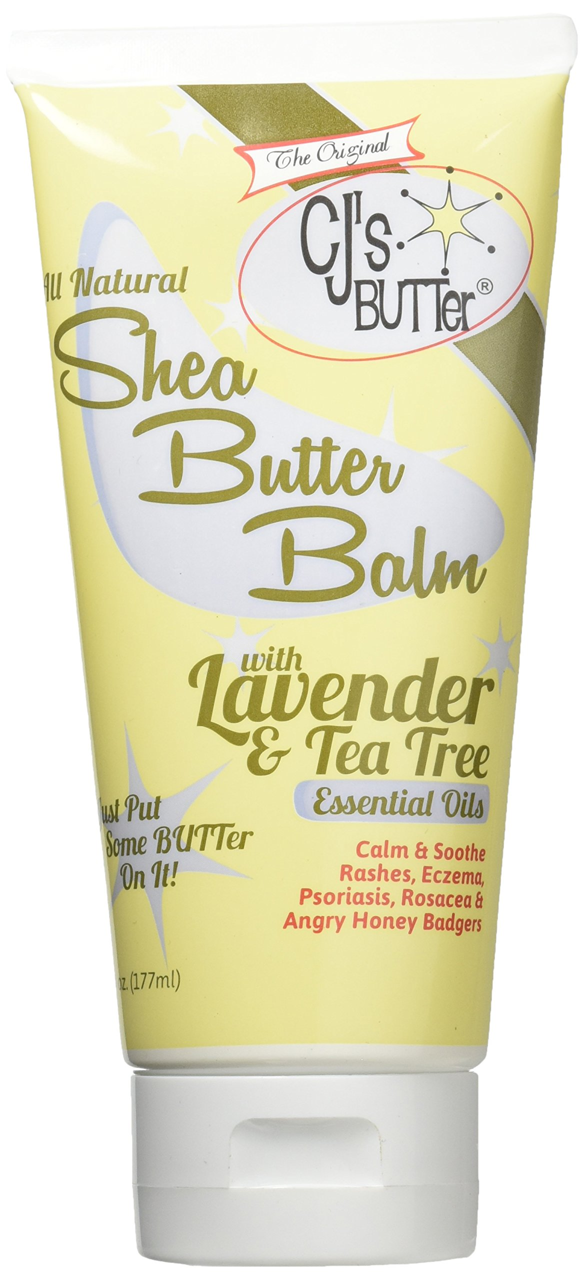 The Original CJ's BUTTer® All Natural Shea Butter Balm - Lavender & Tea Tree, 6 oz. Tube