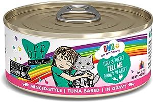 B.F.F. OMG - Best Feline Friend Oh My Gravy!, Tuna & Turkey Tell Me with Tuna & Turkey, 5.5oz Can (Pack of 8)