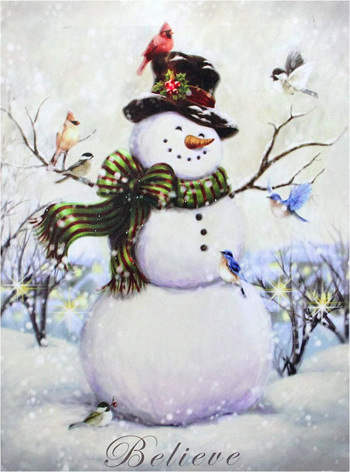 SNOWMEN FAMILY WALL ART PRINTS CHRISTMAS CANVAS PICTURES HOME DECO POSTERS GIFT