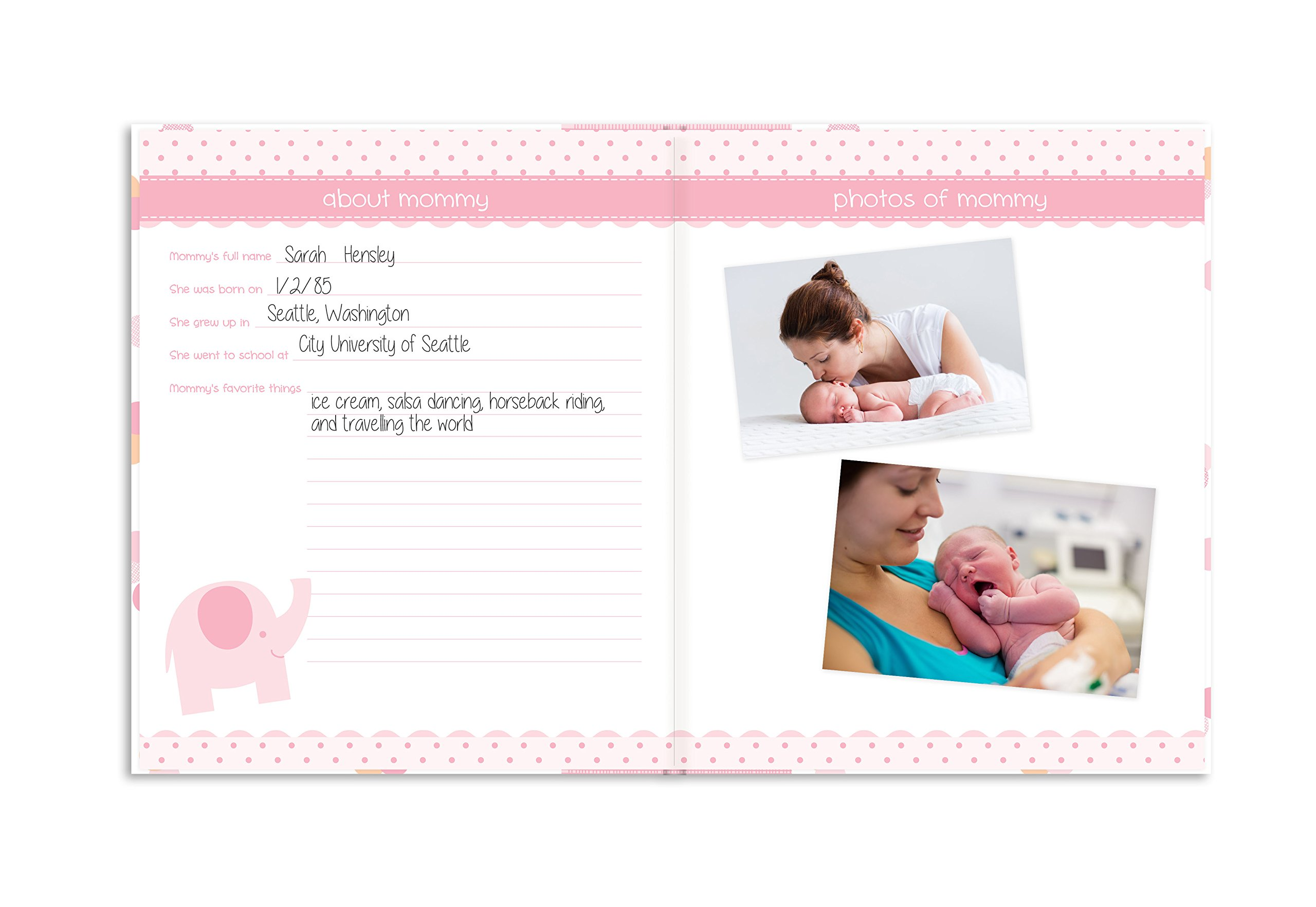 Lil Peach First 5 Years Baby Memory Book, Cherish Every Precious Moment of Your Baby, Perfect Baby Shower Gift, Pink and Peach Confetti Polka Dots by Lil Peach (Image #7)