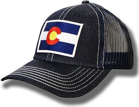 Adjustable Mens Denim Baseball Caps Vintage Colorado Flag Cool Cotton Hats